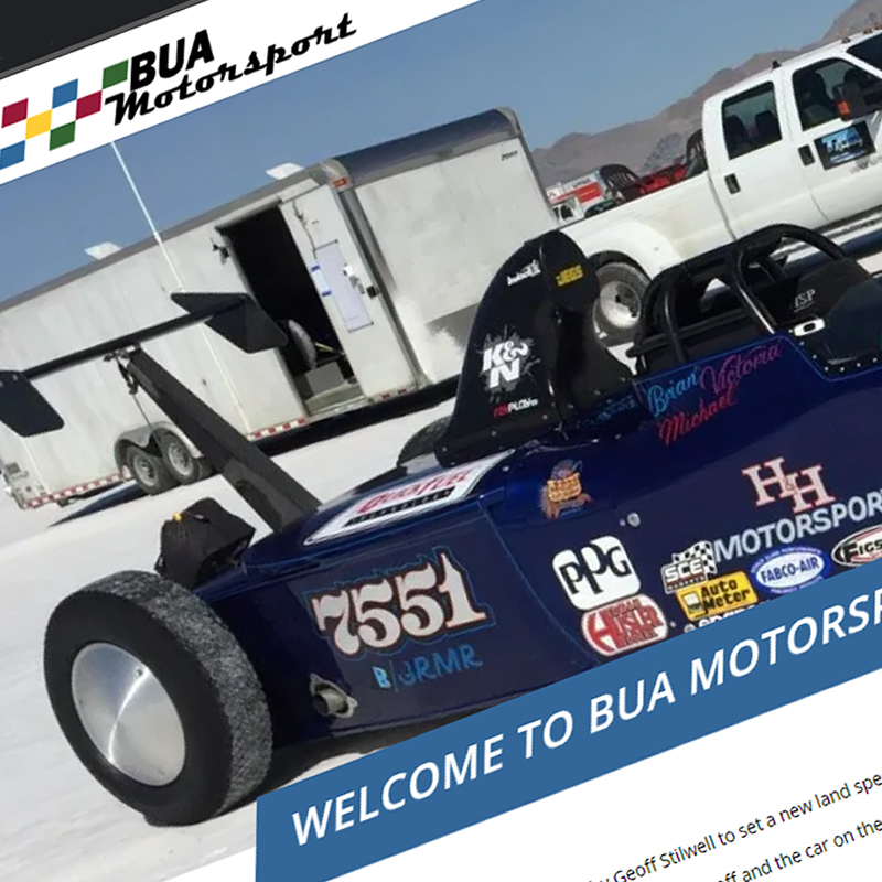BUA Motorsport Website